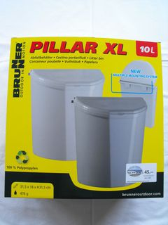 DOOR MOUNT RUBBISH BIN PILLAR XL, 10 litres