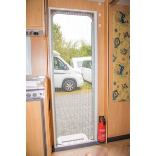 Flyscreen door REMICare II for caravan entrance door