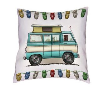 Cushion cover green campervan