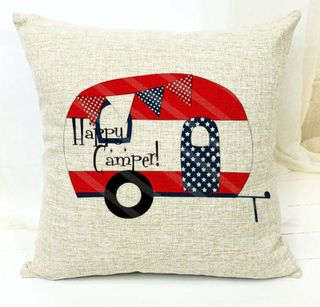 Cushion cover HAPPY CAMPER