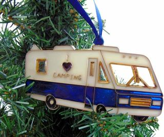 I Love Camping RV Christmas Tree Ornament
