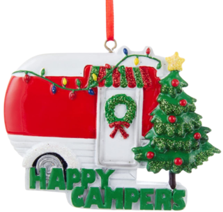 Kurt Adler Happy Campers Caravan Christmas Ornament, Red