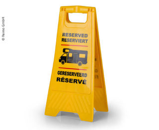 Yellow Reserved Sign for Motorhome