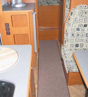 Floor Mat for Caravan/RV Grey, 100 x 50 cm