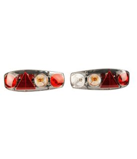 Hella Caraluna II Plus Chrome Tail Light for Caravans available in Left or Right