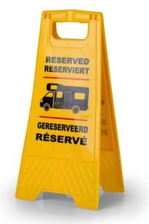 Yellow Reserved Sign for Campervan, Motorhome, Bus
