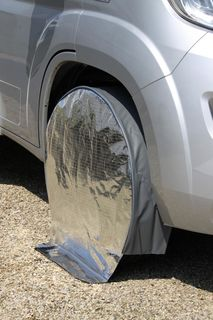 Hindermann Wheel Cover/ Tyre guard, Sun Reflecting, single axle