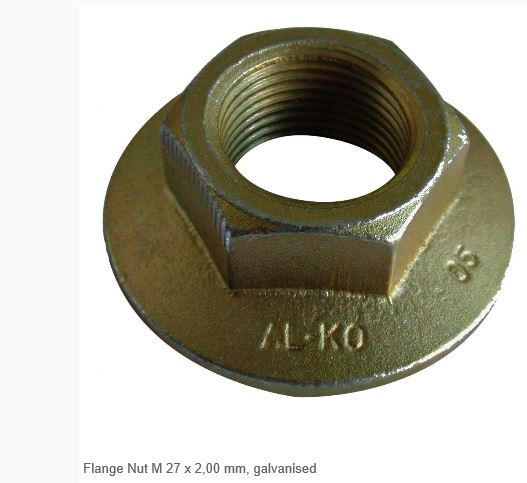 AL-KO flange nut, M27 x 2.00 mm, galvanised
