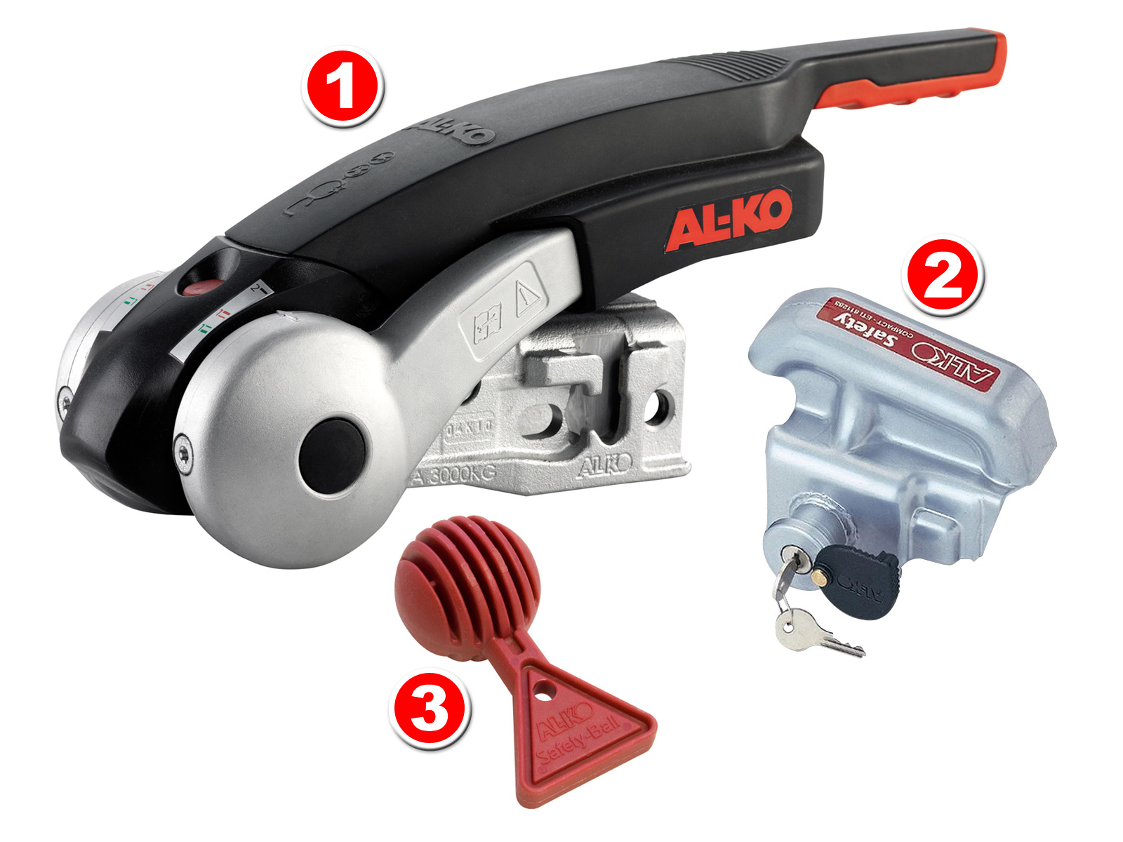 AL-KO AKS 3004 safety coupling incl. antitheft kit