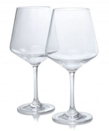 Polycarbonate wine glasses, set of two
