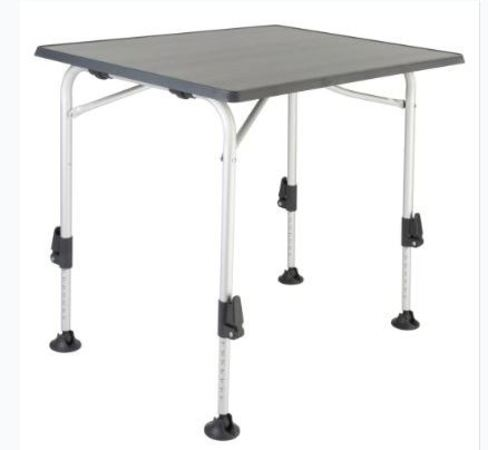 HIGH Q camping table BLACKLINE with adjustable legs