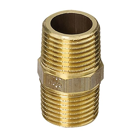 "Adapter Piece Brass 1/2"" to 1/2"""