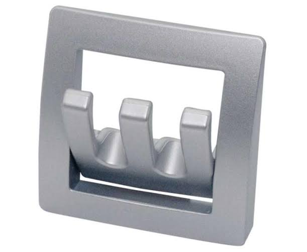 Foldable Wardrobe Hooks, silver, Triple