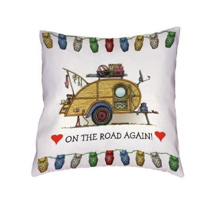 Cushion cover teardrop caravan