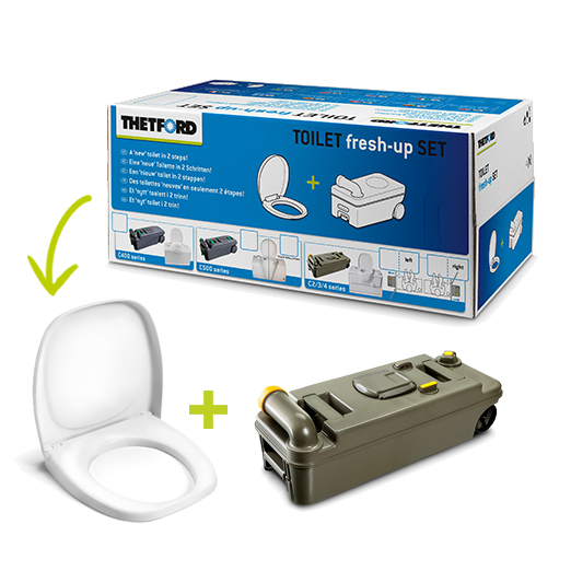 Thetford C2/C3/C4 toilet fresh-up set left hand