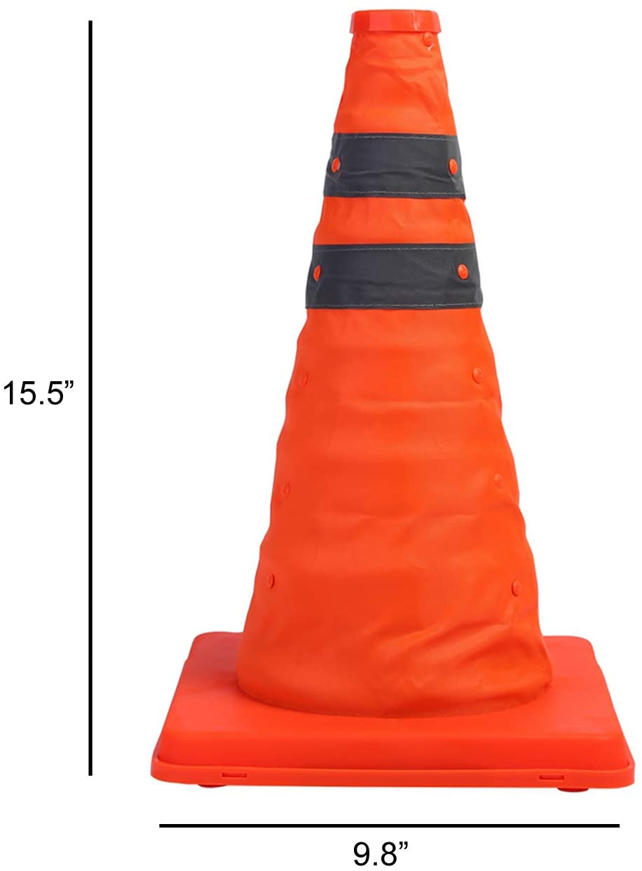 Collapsible Warning Traffic Cone