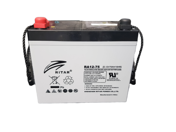 Ritar RA12-75, 12V 75Ah Sealed Deep Cycle Battery