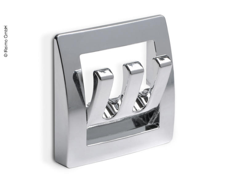 Wardrobe Hook, Chrome, Triple