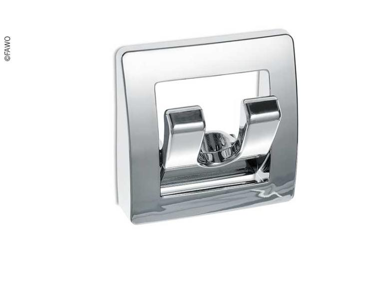 Wardrobe Hook Chrome, Foldable, Double