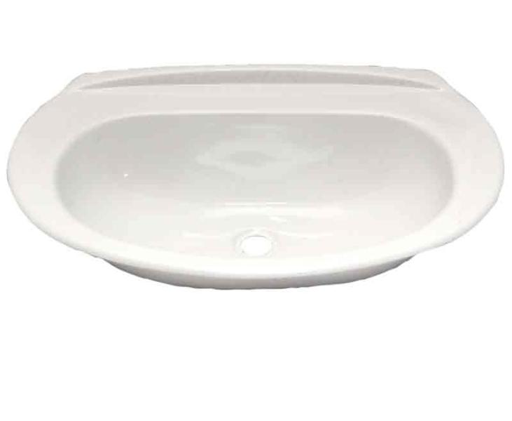 Oval Shaped Hand Basin, Plastic, White