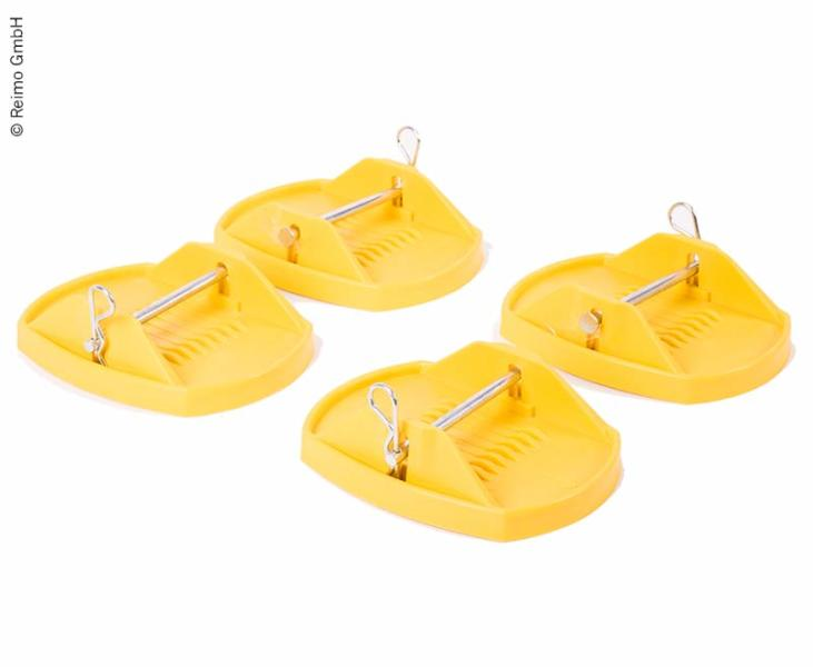 Carbest Corner Steady Support Plates, 4 pieces, YELLOW