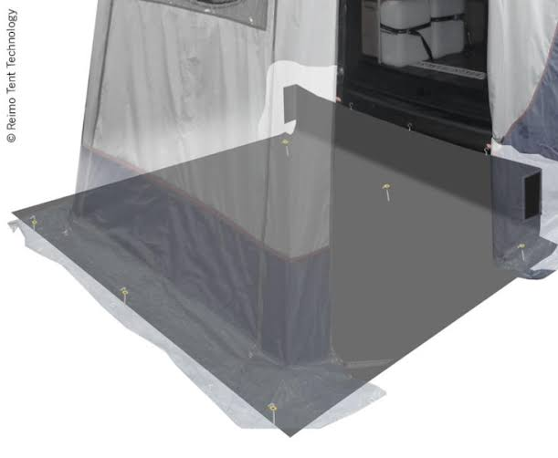 Floor for rear tents Trapeze+Vertic Trafic and Hiace 250x220cm