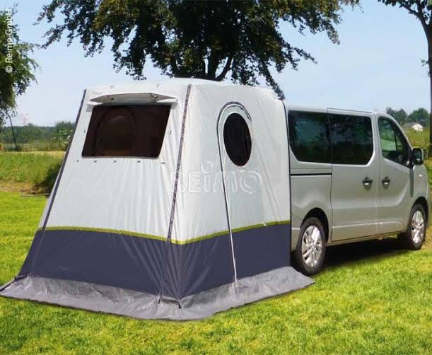 Rear van awning TRAPEZ Trafic, no poles needed