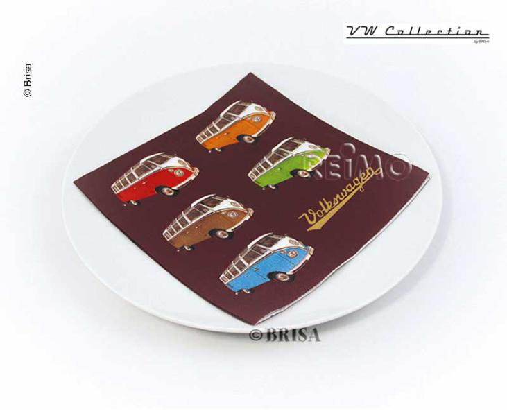 VW paper napkins Samba coloured, 33 x 33 cm