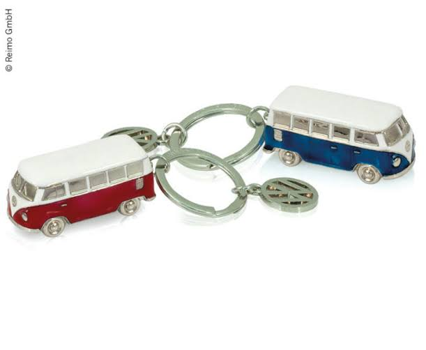 3D VW T1 Bus Key Ring, red