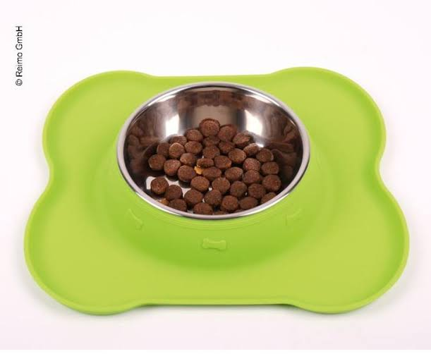 Stainless steel dog bowl FRIDA with silicon tray