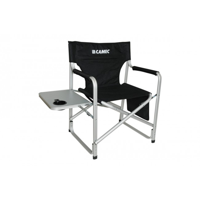 Camec foldable Aluminium Camping Directors Chair With Table
