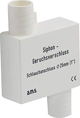 ams Siphon Odour/Smell Trap, 25mm, for self containment