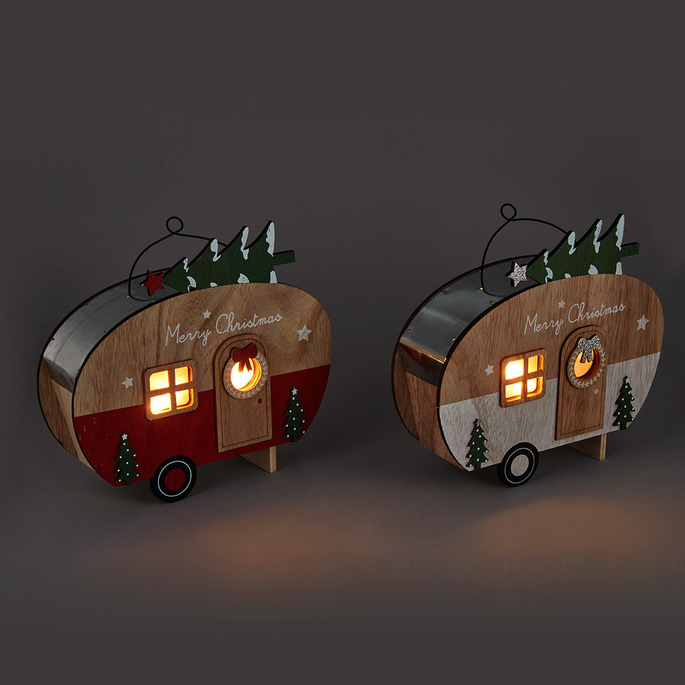 Light-up Christmas Caravan