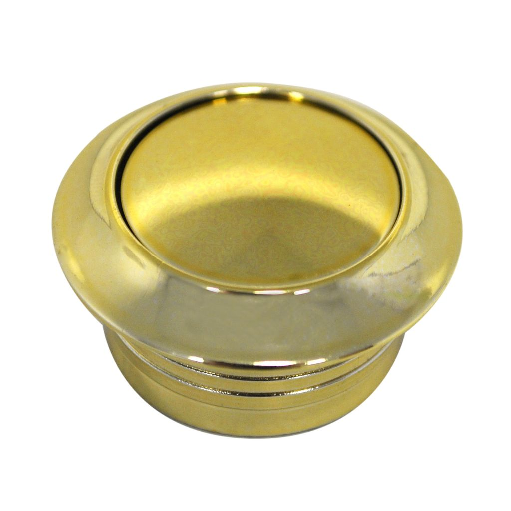 Brass Push Button For Caravan Doors and Cupboards