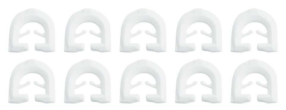 10x Curtain Hooks for T-profile Caravan Curtain Rails